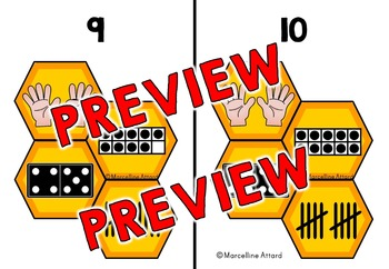SPRING KINDERGARTEN (NUMBER SENSE MATH CENTER ACTIVITIES) BEE THEME SORTING MATS