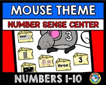 NUMBER SENSE KINDERGARTEN ACTIVITIES: MOUSE THEME NUMBER SENSE GAME:NUMBERS 1-10