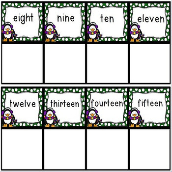 Number Sense Activities to 20