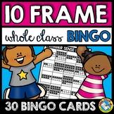 NUMBER SENSE ACTIVITY KINDERGARTEN (10 FRAMES 1-20 BINGO GAME)