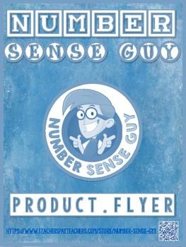 NUMBER SENSE GUY PRODUCT FLYER