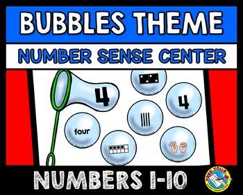 NUMBER SENSE KINDERGARTEN ACTIVITIES: BUBBLES THEME NUMBER SENSE GAME: 1-10