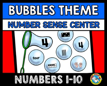 NUMBER SENSE MATH CENTER ACTIVITIES (KINDERGARTEN SORTING) NUMBERS 1-10