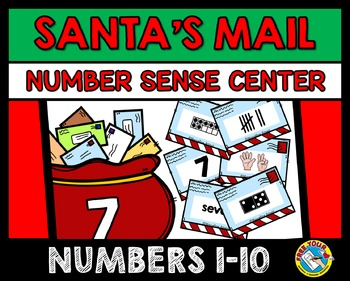 CHRISTMAS ACTIVITIES KINDERGARTEN: LETTERS TO SANTA NUMBER SENSE GAME