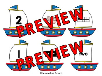 END OF THE YEAR ACTIVITY MATH KINDERGARTEN (SUMMER NUMBER SENSE GAME) SAILING
