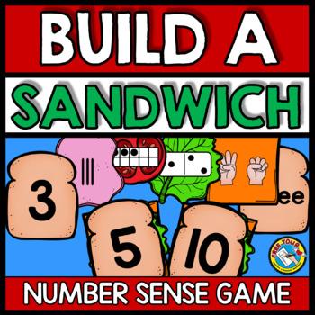 NUMBER SENSE MATH CENTER ACTIVITIES (BUILD A SANDWICH GAME)