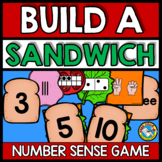 NUMBER SENSE ACTIVITIES KINDERGARTEN (BUILD A SANDWICH GAME)