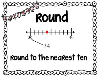 NUMBER SENSE  MiniPosters for Word Walls and Flash Cards Virginia SOL