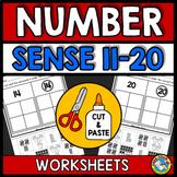 NUMBER SENSE WORKSHEETS KINDERGARTEN (CUT AND PASTE ACTIVITIES 11-20)