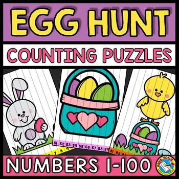 NUMBER SEQUENCE 1-100 EASTER ACTIVITY KINDERGARTEN (APRIL MORNING WORK)
