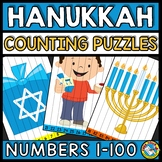 NUMBER SEQUENCE HANUKKAH ACTIVITY KINDERGARTEN (DECEMBER MATH) COUNTING TO 100