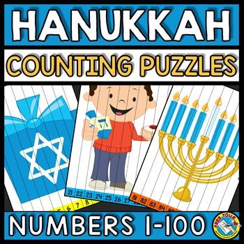 NUMBER SEQUENCE HANUKKAH ACTIVITY KINDERGARTEN (DECEMBER MATH) COUNTING TO 100