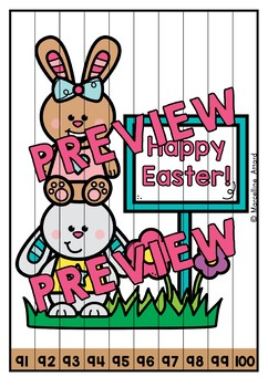 NUMBER SEQUENCE PUZZLES 1-100 EASTER ACTIVITY KINDERGARTEN (APRIL MORNING WORK)