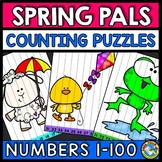 ORDER NUMBER SEQUENCE 1-100 SPRING ACTIVITY KINDERGARTEN MAY MATH MORNING WORK