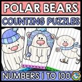 NUMBER SEQUENCE WINTER ACTIVITY KINDERGARTEN POLAR BEARS FEBRUARY MORNING WORK