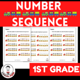 NUMBER SEQUENCE WORKSHEET FOR FIRST GRADE|MATH CENTERS|FUN