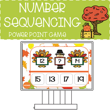NUMBER SEQUENCING 0 TO 30 THANKSGIVING