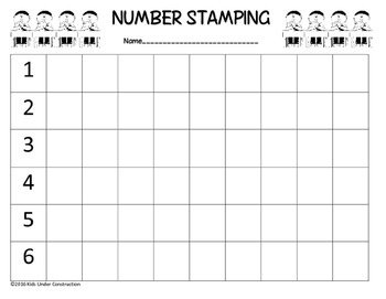NUMBER STAMPING
