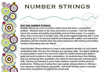 Number Strings By Math Amp Science With Tlc Teachers Pay