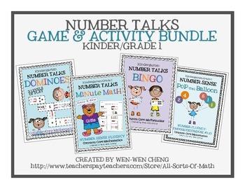 NUMBER TALKS GAME BUNDLE (Kinder/Grade 1 Edition)