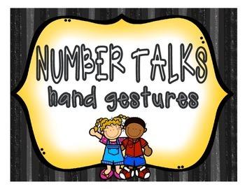 NUMBER TALKS: Hand gesture posters