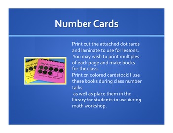 NUMBER TALKS (develop mental strategies for dealing with numbers)