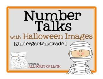 NUMBER TALKS with Halloween Images (Kinder/1st)