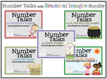 NUMBER TALKS with Seasonal Images Bundle #2 (Kinder/1st)