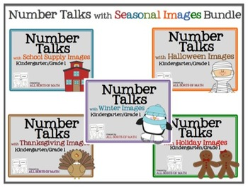 NUMBER TALKS with Seasonal Images Bundle (Kinder/1st)