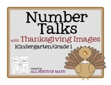 NUMBER TALKS with Thanksgiving Images (Kinder/1st)