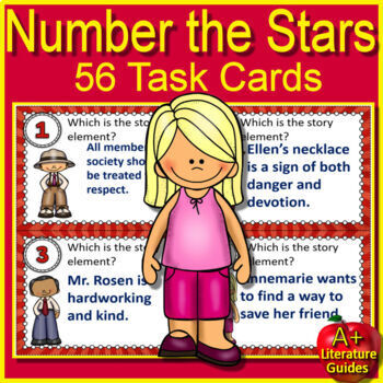 Number the Stars Novel Study Print AND Google Paperless with Self-Grading Tests
