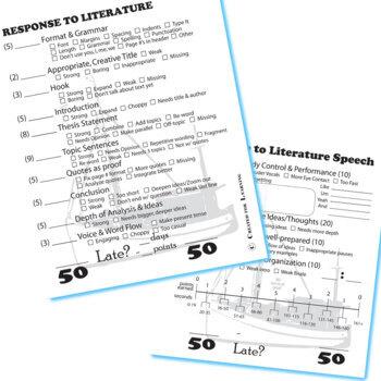 NUMBER THE STARS Essay Prompts & Grading Rubrics