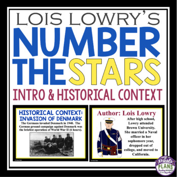 NUMBER THE STARS INTRODUCTION AND HISTORICAL CONTEXT PRESENTATIONS