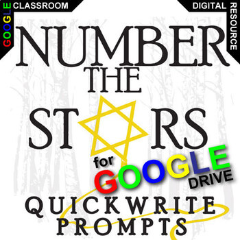 NUMBER THE STARS Journal - Quickwrite Writing Prompts (Created for Digital)