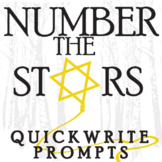 NUMBER THE STARS Journal - Quickwrite Writing Prompts - Po