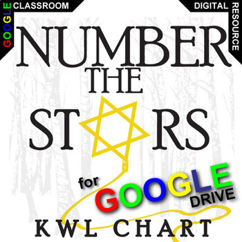 NUMBER THE STARS KWL Organizer Chart for Notetaking (Created for Digital)