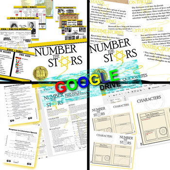 NUMBER THE STARS Unit Plan Novel Study Guide (Digital Distance Learning)