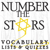 NUMBER THE STARS Vocabulary List and Quiz Assessment