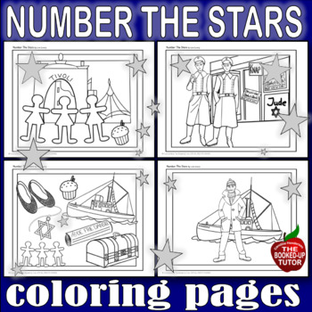 NUMBER THE STARS WRITING PROMPTS {NUMBER THE STARS COLORING PAGES}
