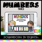 Traza Números | Number Tracing Spanish Powerpoint