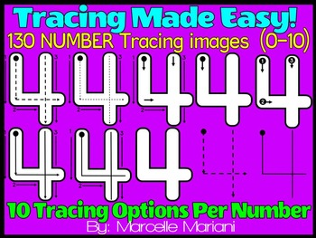 NUMBER TRACING- TRACING NUMBERS CLIPART-Correct NUMBER Formation (130 IMAGES)