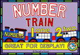 TRAIN NUMBER LINE CLASSROOM WALL (NUMBER POSTERS WITH TEN FRAMES & NUMBER WORDS)