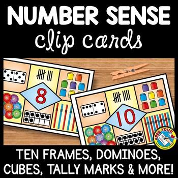 NUMBER SENSE KINDERGARTEN: NUMBER SENSE CLIP CARDS: KINDERGARTEN COUNTING CENTER