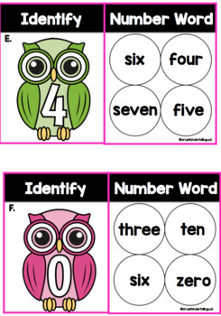 NUMBER WORD & COVER ~Task Cards~