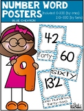 NUMBER POSTERS | Blue Chevron