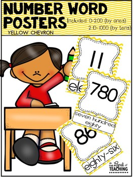 NUMBER WORDS 0-185 {Yellow}