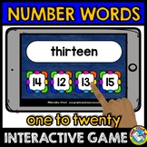 NUMBER WORDS 1-20 ACTIVITIES (NUMBER WORDS MATCHING GAME 2