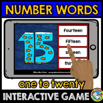 NUMBER WORDS 1-20 ACTIVITIES (NUMBER WORDS MATCHING GAME BOOM CARDS)