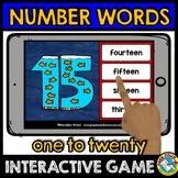 NUMBER WORDS 1-20 ACTIVITIES (NUMBER WORDS MATCHING GAME B