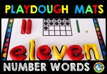 PLAYDOUGH MATS NUMBERS AND NUMBER WORDS
